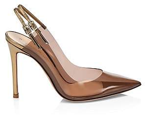 Gianvito Rossi Women's Translucent Point Toe Slingback Pumps