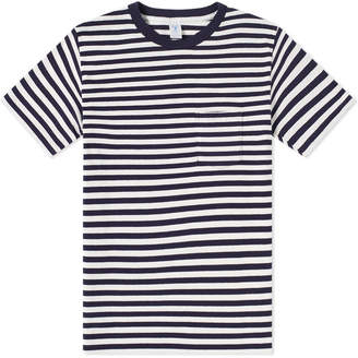 Velva Sheen Narrow Stripe Tee