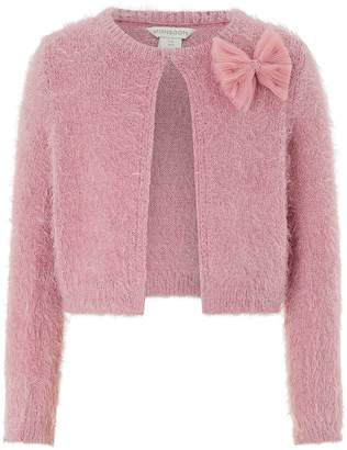 Next Girls Monsoon Rose Pink Fluffy Cardi