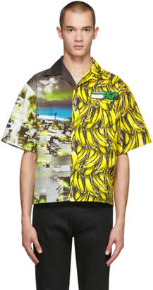 Prada Multicolor Short Sleeve Bananas and Beach Shirt