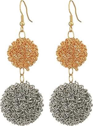Kenneth Jay Lane Women's Double Wire Ball Drop w/ Fishhook Ear Earrings