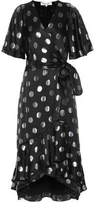 Diane von Furstenberg Sareth polka-dot silk-blend dress