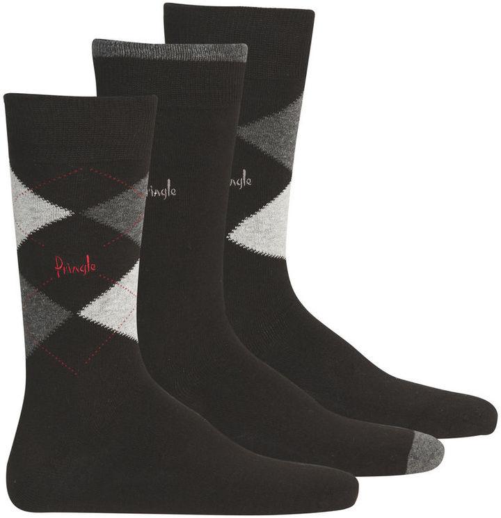 Pringle Argyle Men's 3 Pack Socks