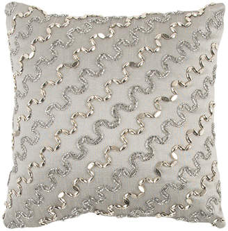 """Rizzy Home 12"""" x 12"""" Striped Poly Filled Pillow"""