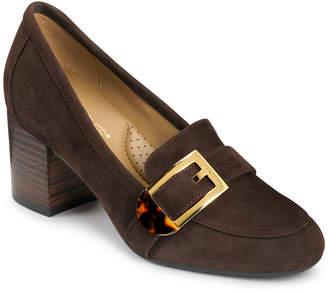 Aerosoles Pattern Work Block Heel Pumps Women Shoes