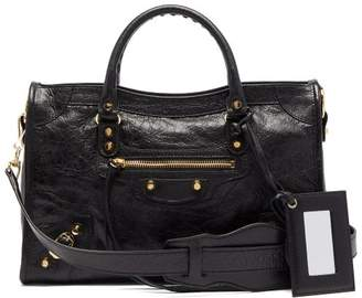 Balenciaga Classic City Leather Shoulder Bag - Womens - Black