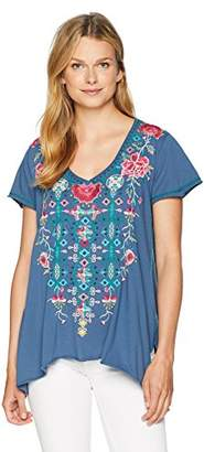 Johnny Was JWLA By Women's Embroidered Draped T-Shirt