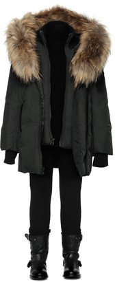 Leelee Black Winter Down Coat With Fur Hood (8-14 Yrs) $430 thestylecure.com