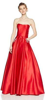 Blondie Nites Junior's Long Satin Strapless Ballgown