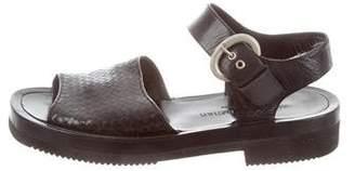 Stephane Kelian Woven Flatform Sandals