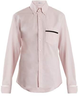 Blouse - Novus Patch Pocket Cotton Shirt - Womens - Light Pink