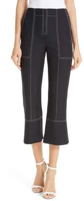 Kenzo Contrast Stitch Crop Flare Pants