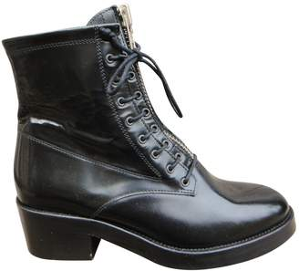 Sandro Black Patent leather Ankle boots