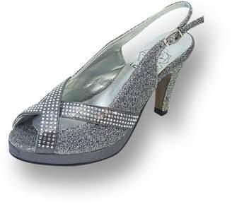 Tiffany & Co. FIC FLORAL Women Extra Wide Width Slingback Platform Heels 10