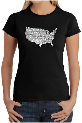 LOS ANGELES POP ART Los Angeles Pop Art The Star Spangled Banner Graphic T-Shirt