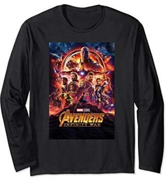 Marvel Avengers Infinity War Poster Graphic Long Sleeve