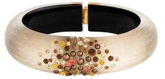 Alexis Bittar Lucite & Crystal Hinge Bangle