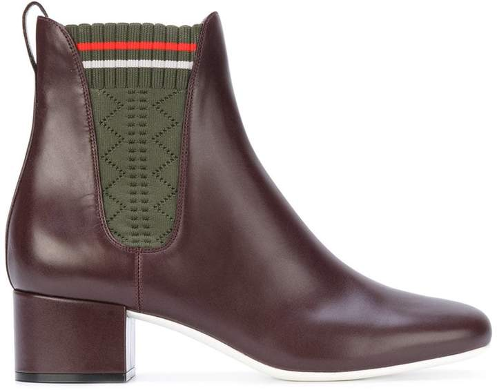 Fendi fabric panel ankle boots