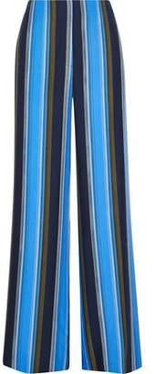 Diane von Furstenberg Printed Silk Wide-leg Pants