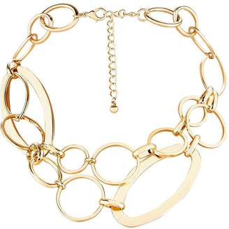 Very Alicia Double Row Link Necklace - Gold