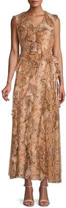 Diane von Furstenberg Python-Print Lacey Dress