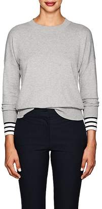 Derek Lam 10 Crosby Women's Striped-Cuff Cotton-Cashmere Sweater