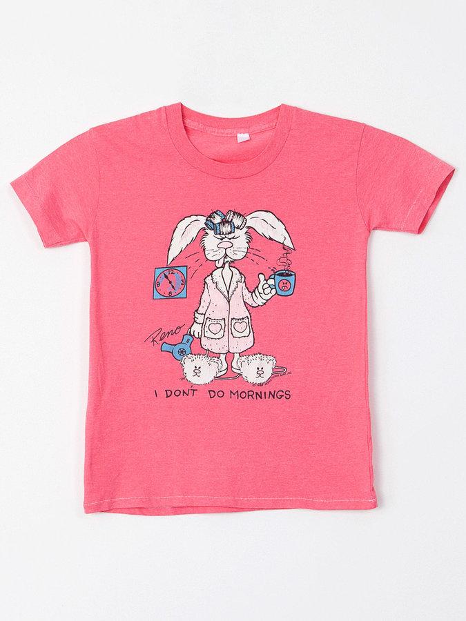 American Apparel Vintage Reno I Don'T Do Mornings T-Shirt