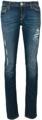 Philipp Plein low rise ripped skinny jeans