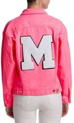 MSGM Neon Denim Jacket
