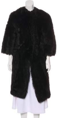 Prada Knee-Length Shearling Coat