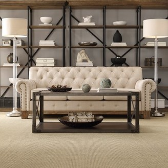 Weston Home Bridgefield Livingroom Sofa With Nailhead Trimmed Arms