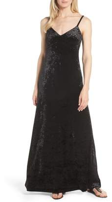 MICHAEL Michael Kors Crushed Velvet Maxi Dress