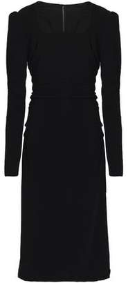 Dolce & Gabbana Ruched Crepe Dress