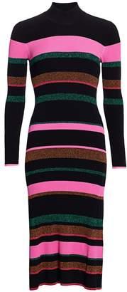 Tanya Taylor Colorblock Wool-Blend Sheath Dress