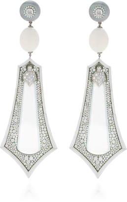 Arunashi One-Of-A-Kind Imperial White Jade Earrings