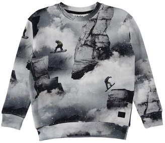 Molo Morell Snowboarder Sweatshirt, Size 4-12