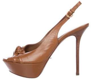 Sergio Rossi Slingback Platforms Sandals