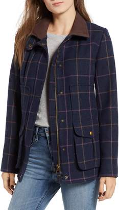 Joules Check Plaid Coat