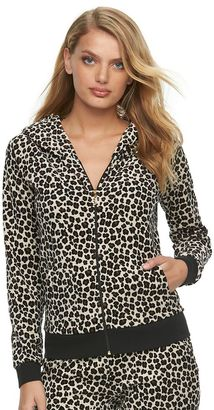 Women's Juicy Couture Leopard Velour Hoodie Jacket $54 thestylecure.com