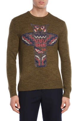 Michael Bastian Olive Owl Sweater