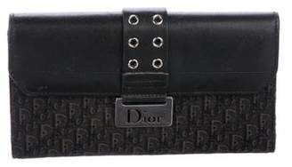 Christian Dior Leather-Trimmed Diorissimo Clutch