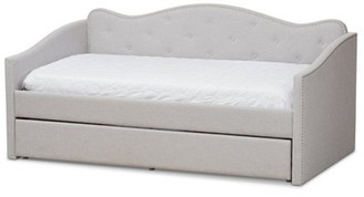 Baxton Studio Kaija Modern and Contemporary Fabric Daybed with Trundle, Multiple Colors