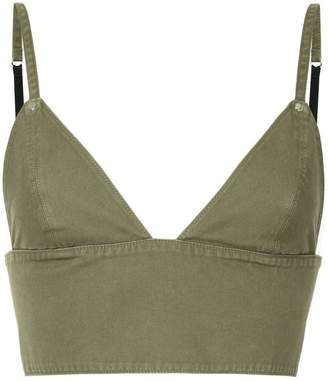 Alexander Wang triangle bralette top
