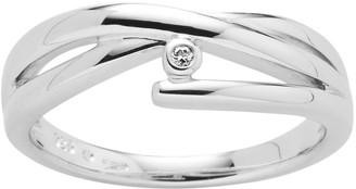 Boston Bay Diamonds Sterling Silver Diamond Accent Crisscross Ring