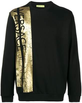 Versace metallic logo sweatshirt