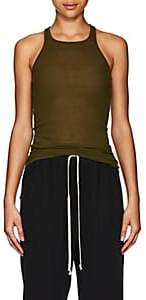 Rick Owens Women's Fine-Gauge Rib-Knit Tank-Dirty Green