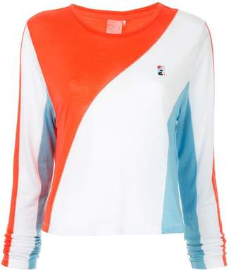 P.E Nation spiral colour block top