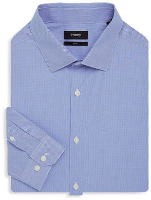 Theory Dover Slim-Fit Gingham Shirt