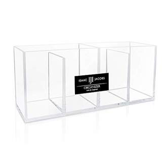 clear Isaac Jacobs 4-Compartment Acrylic Organizer- Makeup Brush Holder- Storage Solution- Office
