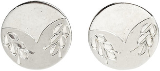 One Kings Lane Vintage 1960s Sterling Wreath Cuff Links - Pr - 2-b-Modern
